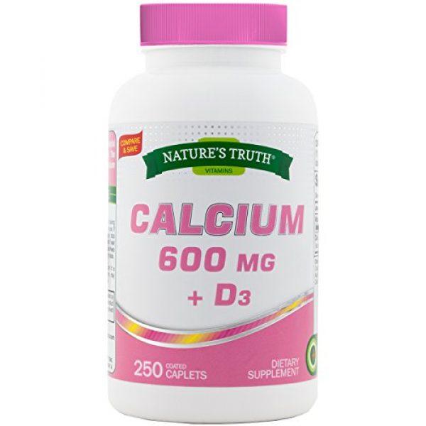 Nature's Truth Calcium Supplement 1 Nature's Truth Calcium 600 mg Plus Vitamin D3 Tablets, 250 Count