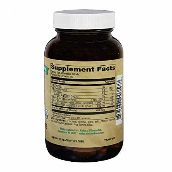 Natural Vitamin Co. Calcium Supplement 3 Natural Vitamin Co. - Chewable Calcium 1,000mg Plus Magnesium 500mg, Vitamin D3 200IU, and Boron 400mcg, Natural Citrus Flavor, 60 Tablets, 15 Day Supply, Gluten Free, Vegetarian