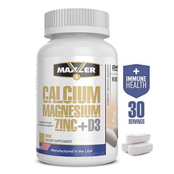 MAXLER Calcium Supplement 1 Maxler Calcium Magnesium Zinc Plus Vitamin D3 - Essential Minerals Supplement - Calcium 1000mg Magnesium 600mg Zinc 15mg Vitamin D3 600IU - Immune Support - 90 Calcium Magnesium Zinc D3 Tablets