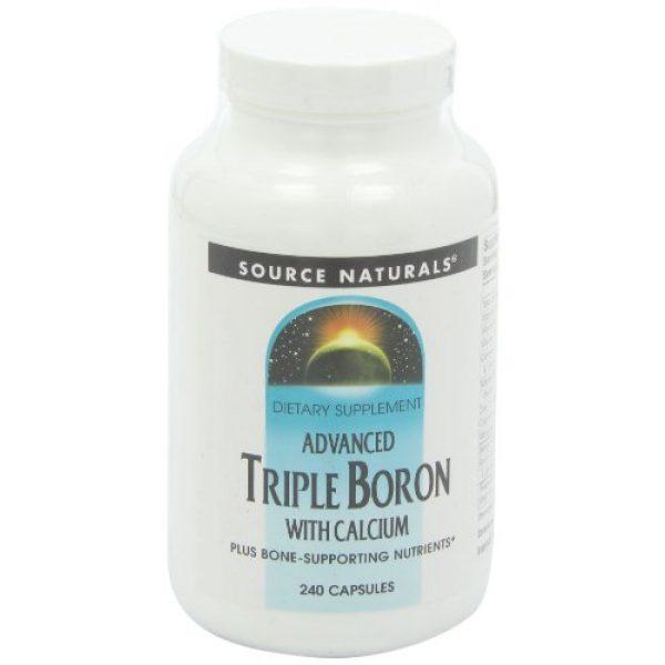 Source Naturals Calcium Supplement 7 SOURCE NATURALS Advanced Triple Boron with Calcium Capsule, 240 Count