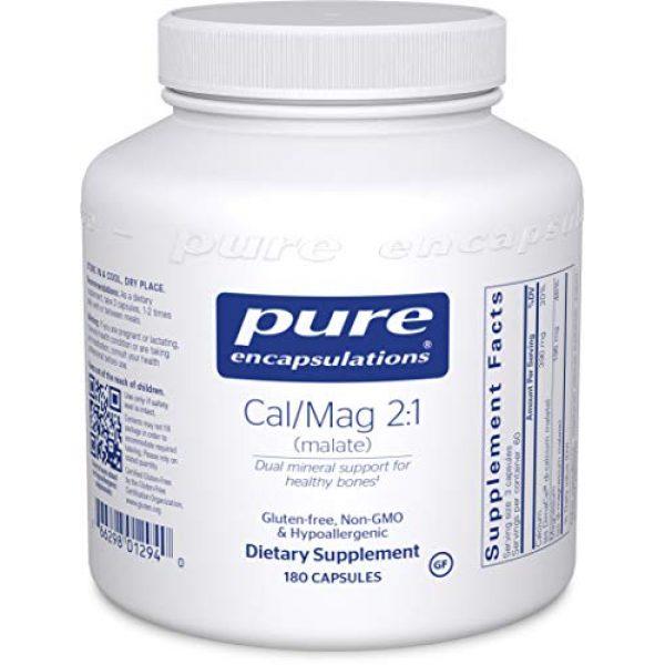 Pure Encapsulations Calcium Supplement 1 Pure Encapsulations - Cal/Mag (Malate) 2:1 - Hypoallergenic Calcium and Magnesium Supplement in a 2-to-1 Ratio - 180 Capsules