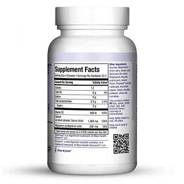Maxi Health Calcium Supplement 2 Maxi Health KiddieMax Calcium - CalciYum! - Strawberry Flavor - 90 Animal Shaped Chewies - Kosher