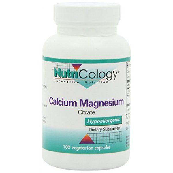 Nutricology Calcium Supplement 1 NutriCology Calcium Magnesium Citrate 100 Vegetarian Capsules