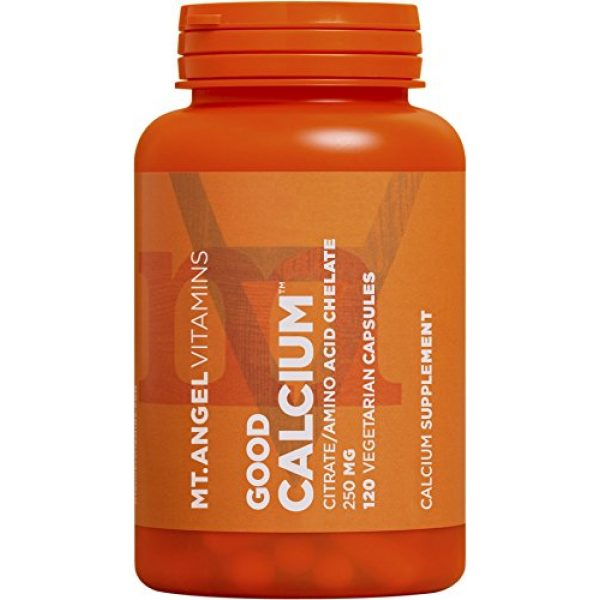 Mt. Angel Vitamins Calcium Supplement 3 Mt. Angel Vitamins - Good Calcium, Citrat/AminoAcid (120 Vegetarian Capsules)