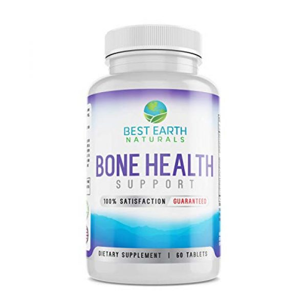Best Earth Naturals Calcium Supplement 1 Bone Health Support for Men and Women with Calcium and Bone Vitamins to Maintain Strong, Healthy Bones - 60 Tablets