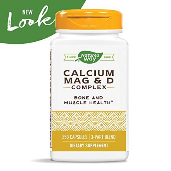 Nature's Way Calcium Supplement 3 Nature's Way Calcium, Magnesium and Vitamin D, 250 Capsules