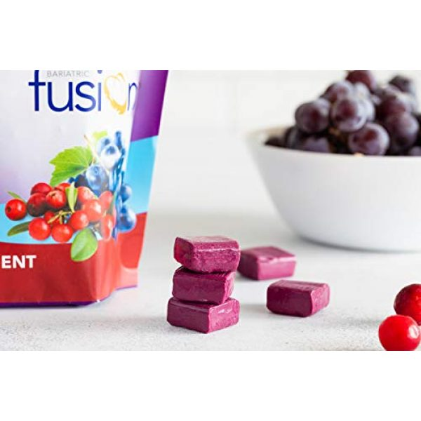 Bariatric Fusion Calcium Supplement 3 Bariatric Fusion Calcium Citrate 500mg & Energy Soft Chews Cran-Grape Flavor for Bariatric Surgery Patients Including Gastric Bypass and Sleeve Gastrectomy, 60 Count, Sugar Free, Made in The USA