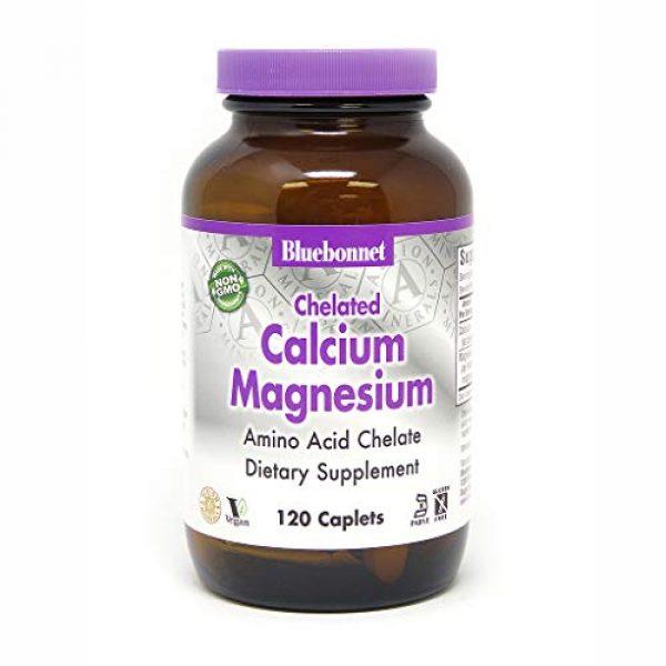 BlueBonnet Calcium Supplement 1 BlueBonnet Albion Chelated Calcium Magnesium Caplets, 120 Count