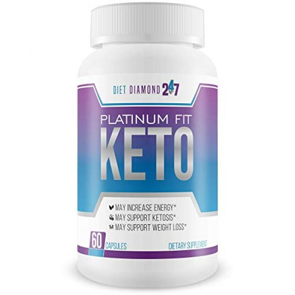 Diet Diamond 247 Calcium Supplement 1 Platinum Fit Keto - Burn Fat Faster to Lose More Weight - Calcium BHB Accelerated Ketosis - Help Your Body Get Into Ketosis Faster So You Can Burn Fat Now