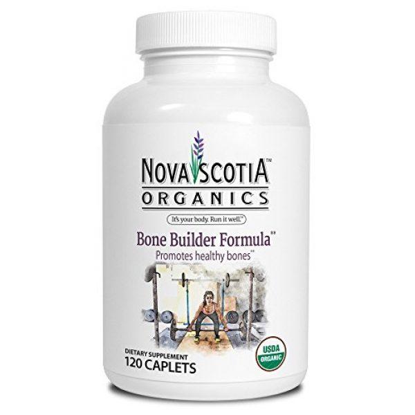 Nova Scotia Organics Calcium Supplement 1 Nova Scotia Organics Bone Builder Formula (120 Caplets), Organic, Vegetarian, Vitamin D3, Vitamin K2, Calcium, Magnesium, Non-GMO