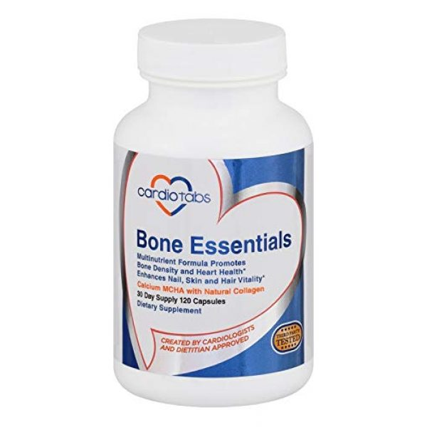 CardioTabs Calcium Supplement 1 Bone Essentials - Formulated with Calcium Hydroxyapatite for high Absorption to Promote Bone Density and Heart Health