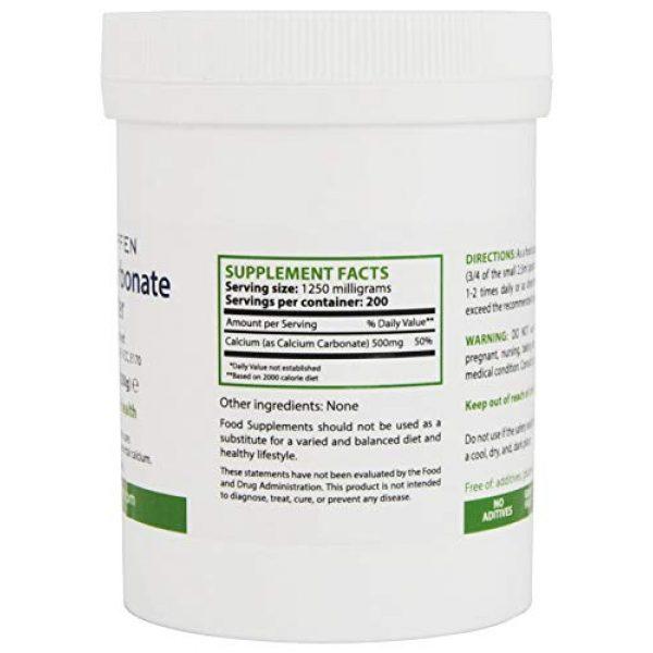 Heiltropfen Calcium Supplement 2 Calcium Carbonate Powder, Pharmaceutical Grade, 0.55 lb - 250g, Highest Purity Limestone, Heiltropfen®