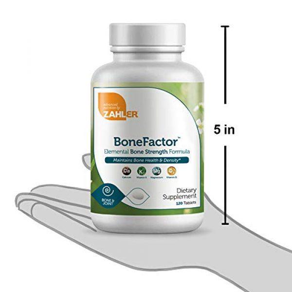 Zahler Calcium Supplement 4 Zahler Bonefactor, Bone Strength Supplement containing Calcium, Vitamin D, Vitamin K and Magnesium, Certified Kosher, 120 Tablets