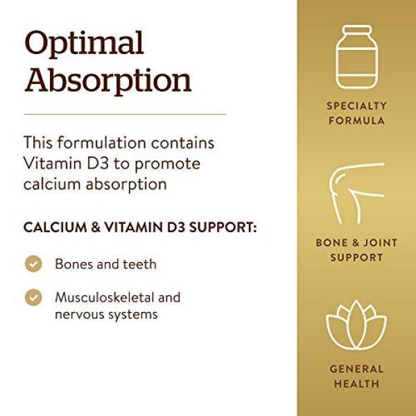 Solgar Calcium Supplement 4 Solgar Calcium Citrate with Vitamin D3 Tablets, 240 Count (Pack of 1)