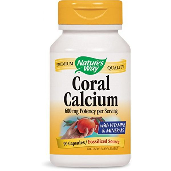 Nature's Way Calcium Supplement 1 Nature's Way Coral Calcium 600 mg w/vitamins & minerals, 90 Count