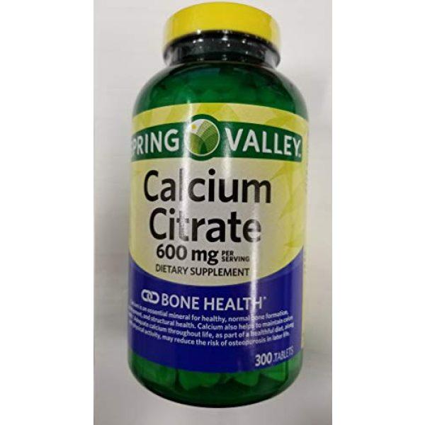 Calcium Citrate Calcium Supplement 1 Spring Valley Calcium Citrate 600 MG 300 Tablets