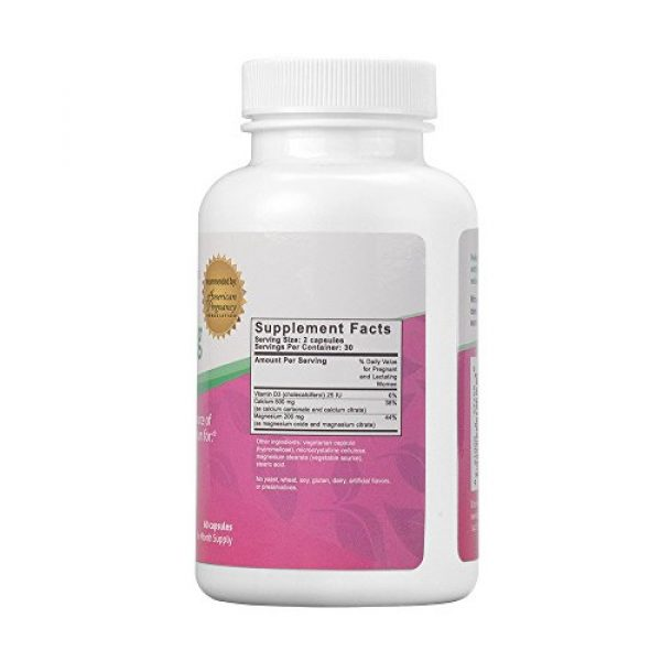Fairhaven Health Calcium Supplement 2 Peapod Cal-Mag: Ideal Dosage of Calcium, Magnesium, and Vitamin D3 for Pregnancy