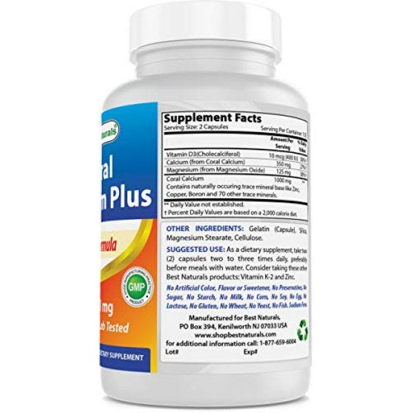 Best Naturals Calcium Supplement 5 Best Naturals Coral Calcium Plus 1000 mg 250 Capsules