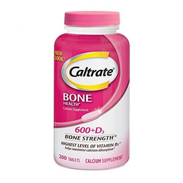 Caltrate Calcium Supplement 1 Caltrate 600+D3 Calcium and Vitamin D Supplement Tablet for maximum calcium absorption, 600 mg -200 Count