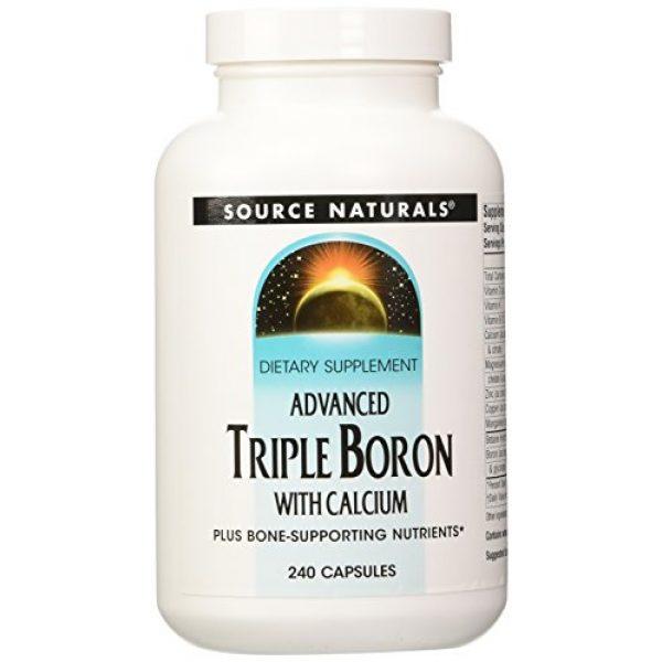Source Naturals Calcium Supplement 1 SOURCE NATURALS Advanced Triple Boron with Calcium Capsule, 240 Count