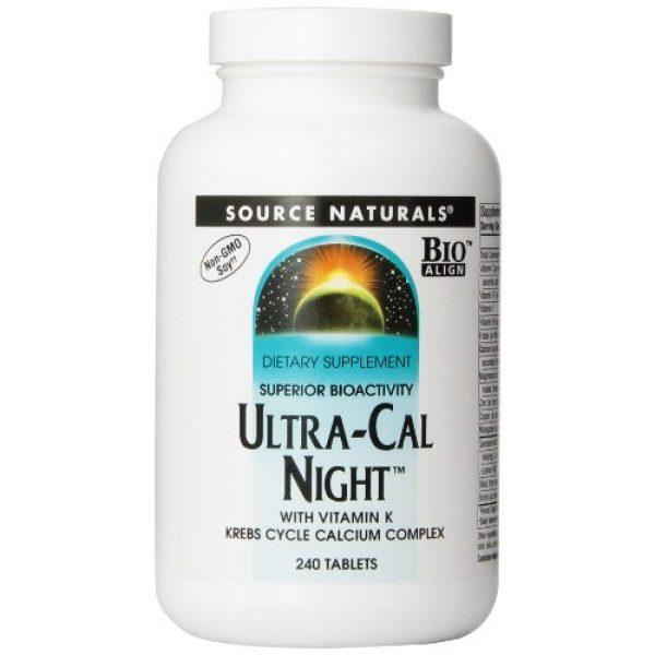 Source Naturals Calcium Supplement 1 Source Naturals Ultra-Cal Night With Vitamin K - Krebs Cycle Calcium Complex - 240 Tablets