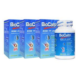 BIOCALTH Calcium Supplement 1 Best Calcium Supplement - 3 Bottles of BioCalth® Calcium Threonate, 90 caplets (90x3=270 Counts)