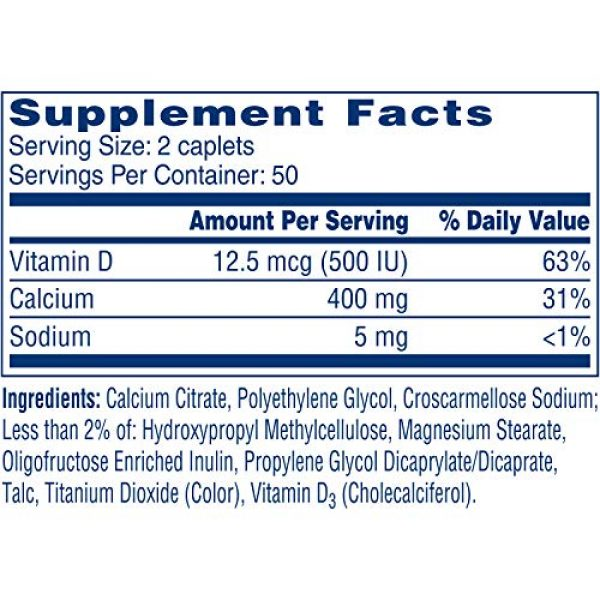 CITRACAL Calcium Supplement 7 Citracal Petites Tablets with Vitamin D 100 Tablets (Pack of 3)