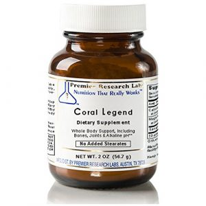 Premier Research Labs Calcium Supplement 1 Coral Legend, 2oz Powder - 100% Coral Mineral Powder; Ideal Whole Body Support, Especially for The Bones, Joints, Teeth and an Alkaline pH
