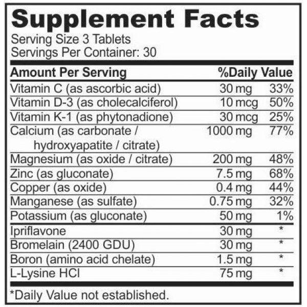 Sigmaceutical Calcium Supplement 5 Bone Strength Calcium Magnesium Supplement - Bone Health Boron Supplement - Calcium Citrate w/ Vitamin D3 - Calcium Carbonate - 90 Tablets
