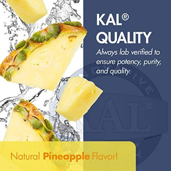 KAL Calcium Supplement 5 KAL Liquid Cal-Mag+ Vitamin D-3 | Natural Pineapple Flavor | Healthy Bones, Muscle & Heart Support | 30 Servings | 16 oz