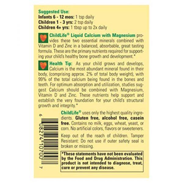 CHILDLIFE ESSENTIALS Calcium Supplement 5 ChildLife Essentials Liquid Calcium with Magnesium for Infants, Babys, Kids, Toddlers, Children, and Teens Orange Flavored Dietary Supplement, 16 oz (Pack of 4)
