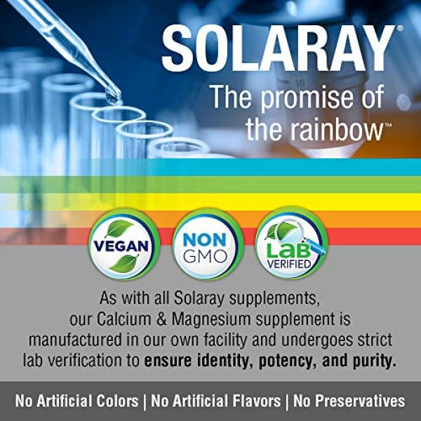Solaray Calcium Supplement 4 Solaray Cal-Mag Citrate 1:1   Calcium & Magnesium Citrate   for Healthy Bones, Teeth, Muscle & Nervous System Function   High Absorption   180 Count