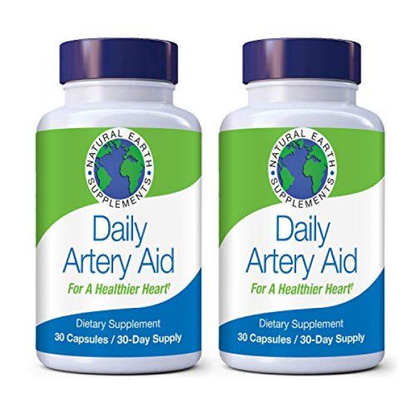 Earth Natural Supplements Calcium Supplement 1 Daily Artery Aid for Heart Health Support. Addresses Age-Related Circulation and Artery Issues. Supports Clean and Supple Arteries. 60 Day Supply.