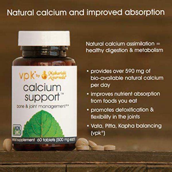Maharishi Ayurveda Calcium Supplement 2 Calcium Support | 60 Herbal Tablets - 500 mg ea. | All Natural Calcium Supplement | Supports Healthy Joints, Nerves & Bones