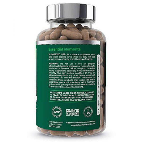 Essential Elements Calcium Supplement 2 Bone Boost Bone Health Supplement - Calcium, Vitamin D3, K2, Cissus Quadrangularis | Essential Elements for Bone Strength - 90 Capsules (30 Day Supply)