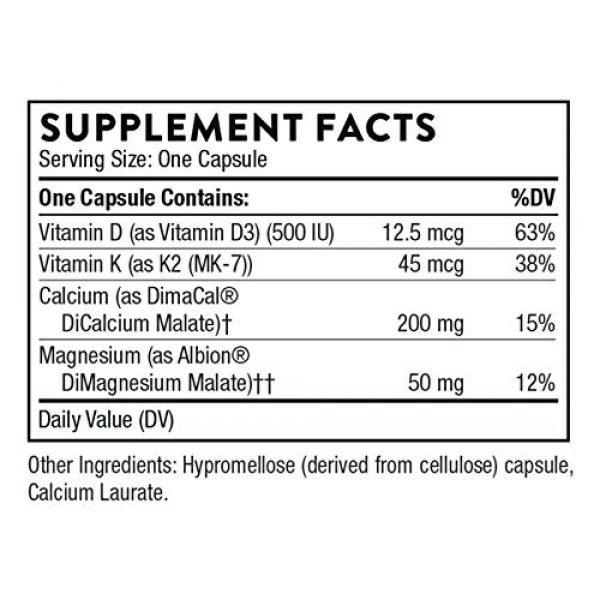 Thorne Research Calcium Supplement 2 Thorne Research - Basic Bone Nutrients - Calcium, Magnesium, Vitamin D, and Vitamin K - 120 Capsules