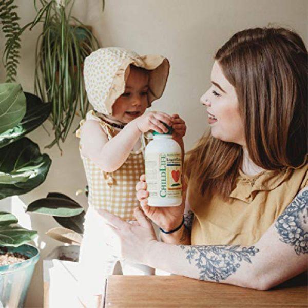 CHILDLIFE ESSENTIALS Calcium Supplement 4 ChildLife Essentials Liquid Calcium with Magnesium for Infants, Babys, Kids, Toddlers, Children, and Teens Orange Flavored Dietary Supplement, 16 oz (Pack of 4)