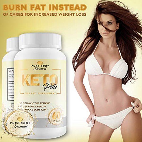 Pure Body Diamond Calcium Supplement 5 Pure Body Diamond Keto Pills - Keto Boost - Accelerate Ketosis - Burn More Fat - Burn Fat Faster - Keto Pills for Women, Keto Pills for Men - Feel The Keto Power of Bhb exogenous Ketones Capsules