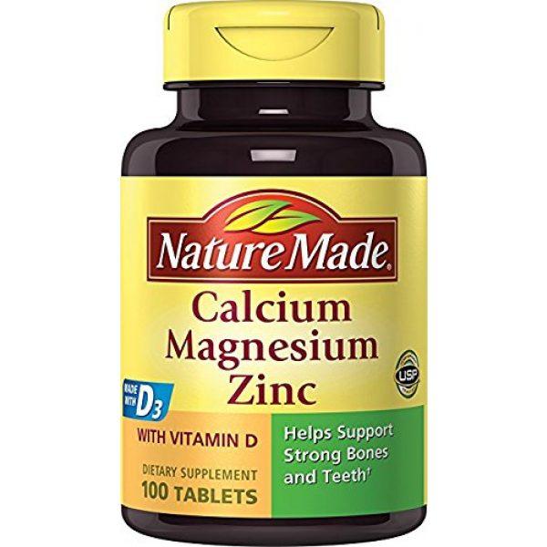 Nature Made Calcium Supplement 1 Nature Made Calcium, Magnesium & Zinc w. Vitamin D Tablets 100 Ct