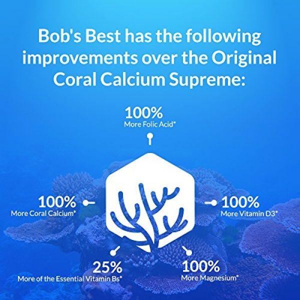 Bob's Best Calcium Supplement 4 Bob's Best Coral Calcium 2000mg, 3 Pack of 90 Capsules New Improved Formulation!