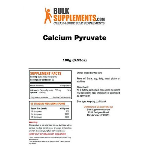 BulkSupplements Calcium Supplement 2 BulkSupplements Calcium Pyruvate Powder (100 Grams)