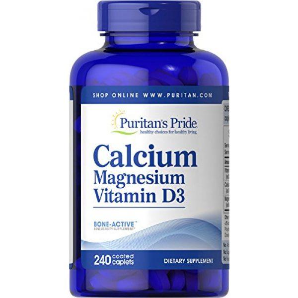 Puritan's Pride Calcium Supplement 1 Puritan's Pride Calcium Magnesium with Vitamin D-240 Caplets