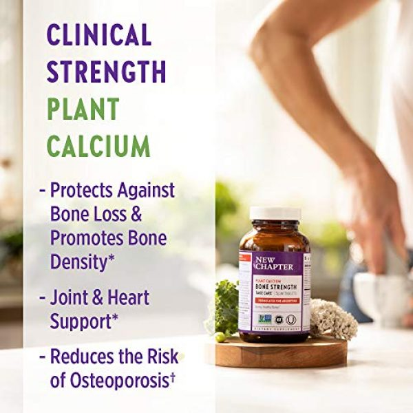 New Chapter Calcium Supplement 5 New Chapter Calcium Supplement - Bone Strength Whole Food Calcium with Vitamin K2 + D3 + Magnesium, Vegetarian, Gluten Free 270 Count (3 Month Supply)