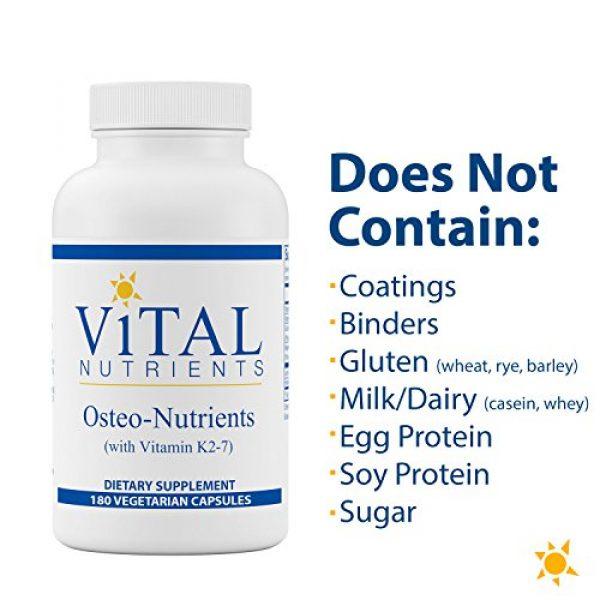 Vital Nutrients Calcium Supplement 5 Vital Nutrients - Osteo-Nutrients (with Vitamin K2-7) - Bone Support Formula - 180 Vegetarian Capsules per Bottle