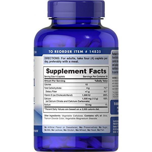 Puritan's Pride Calcium Supplement 3 Puritan's Pride Calcium 1500 mg with Vitamin D 1000 IU-120 Coated Caplets, 120 Count (Pack of 1) (14835)