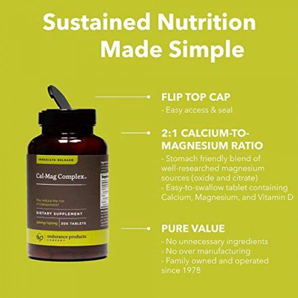Endurance Products Calcium Supplement 4 Calcium Magnesium Supplement (Cal-Mag Complex) - 300mg Calcium & 150mg Magnesium - 300 Tablets - Endurance Products Company