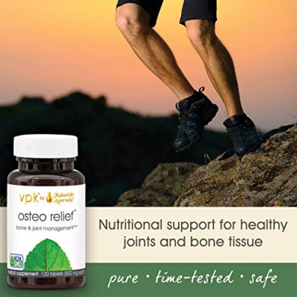 Maharishi Ayurveda Calcium Supplement 4 Osteo Relief | 120 Herbal Tablets - 500 mg ea. | Natural Remedy for Healthy Joints & Bones | Promotes Flexibility | Source of Calcium for Bone & Cartilage Health