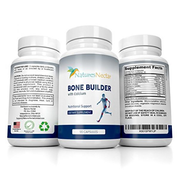 Nature's Nectar Calcium Supplement 1 Bone Builder Joint Supplements for Women - Increased Bone Health Plus New Growth - Fights Osteoporosis - Bone Strength Formula - Organic Bone Care for Max Raw Absorption Boost - Feel New Life & Alive