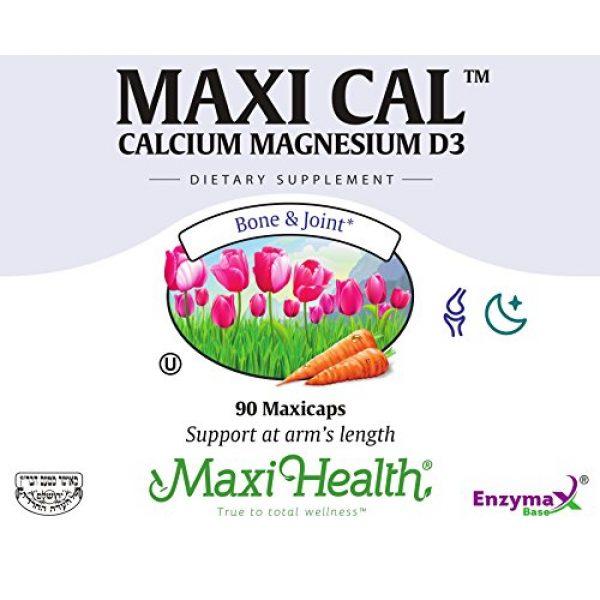 Maxi Health Calcium Supplement 3 Maxi Cal Calcium Magnesium D3 Complex 90 Count Bottle
