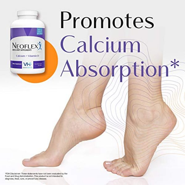Neoflex Calcium Supplement 4 Neoflex Calcium + Vitamin D Dietary Supplement, Bone & Joint Health Supplement, 180 Capsules